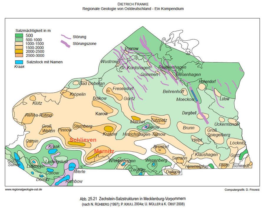 Steinsalz-Zechstein Strukturen Mecklenburg-Vorpommern - Bild aus der DBHD Endlager Entwicklung