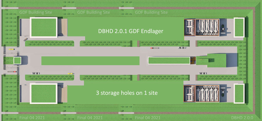 >>> DBHD 2.0.0 GDF Endlager - after 36 years - 3 storage holes done ... #DBHD #Future #GDF #Time