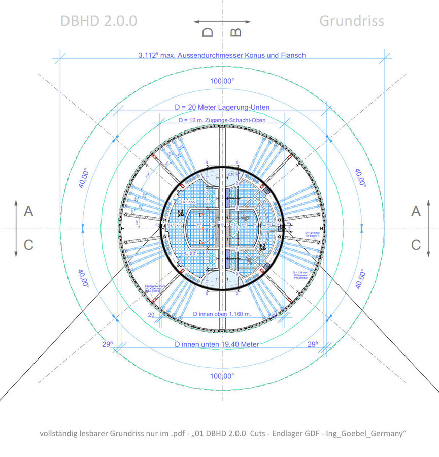 Grundriss Schacht oben DBHD 2.0.0 Endlager Übersichtsbild Vorschau