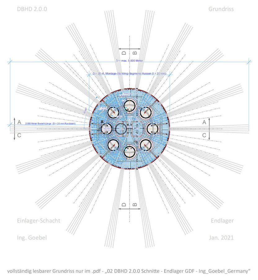 Grundriss Schacht unten DBHD 2.0.0 Endlager Übersichtsbild Vorschau