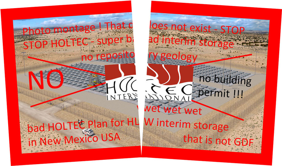 >>> STOP new HOLTEC USA interim storage ideas - interim becomes an un-tight problem - that is not GDF - that is not nuclear repository - #Holtec #unsafe #USA #STOP #cheapbullshit