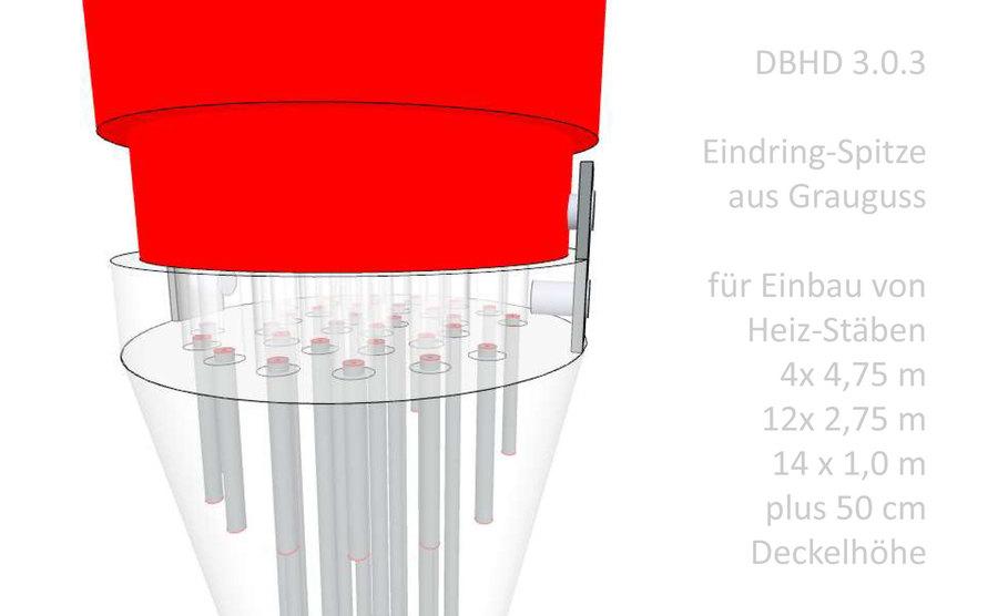 Heizbarer Eindring-Kegel für DBHD 3.0.3 High Tech Endlager bei Beverstedt